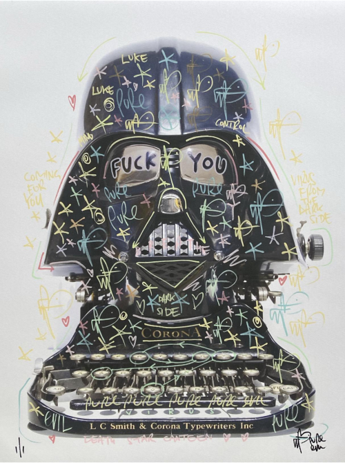 F**k you Corona !  Pastel tags - Darth Typewriter