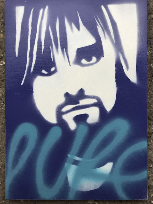 Paris 2002 Stencil Archive - Kurt Cobain