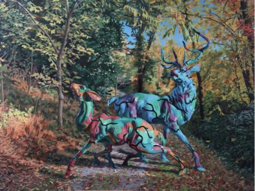 Camo Deer In Enchanted Forest