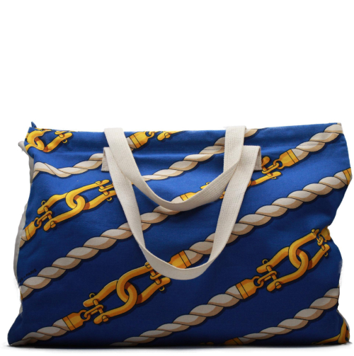 Hermes Chain Blue beahc bag