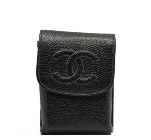Chanel caviar leather cigarrete case