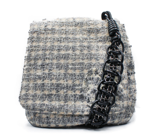Chanel 2003 tweed messenger bag