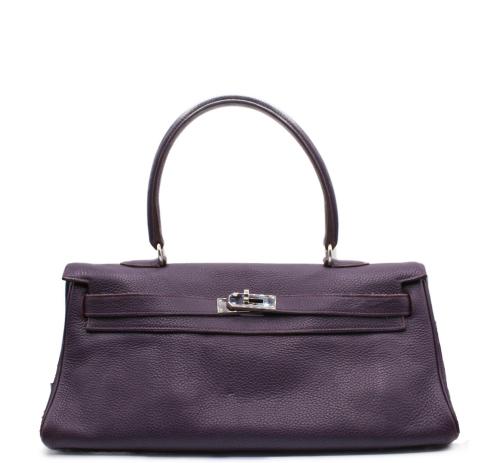 Hermes Purple Kelly shoulder