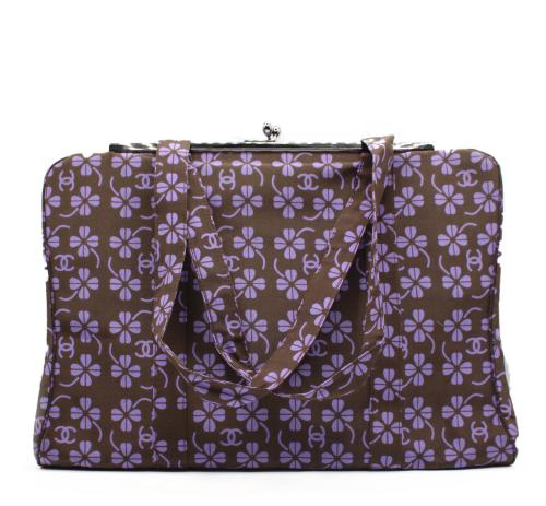 "Chanel brown and violet ""trebol"" bag"
