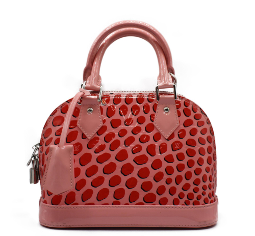 Louis Vuitton Pink ptented leather bag