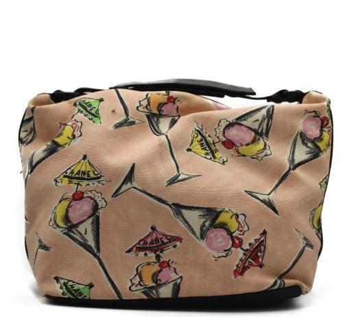 Chanel Rose Bonbon canvas bag