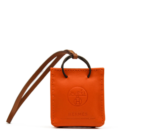 Hermes shopping bag bag charm