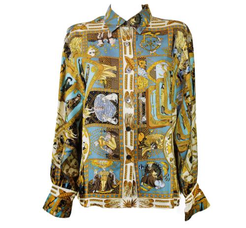 "Hermès ""Le Tarot"" silk shirt"