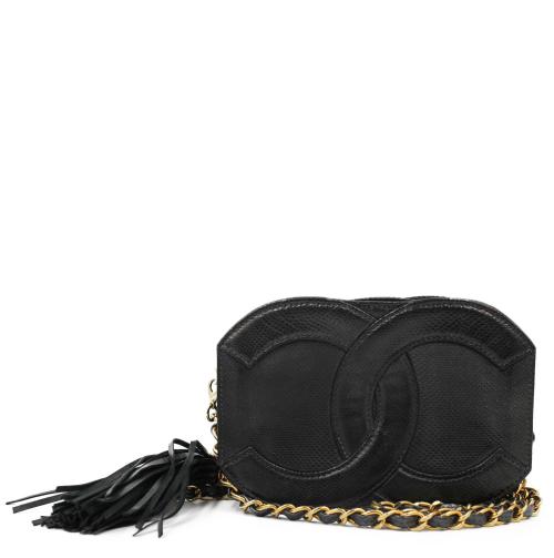 Vintage Chanel mini lizard logo Handbag
