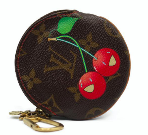 LV coin pouch cherry monogram