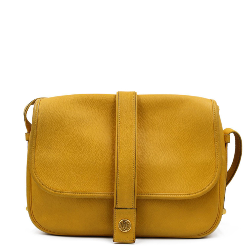 Vintage Hermes Noumea in yellow leather