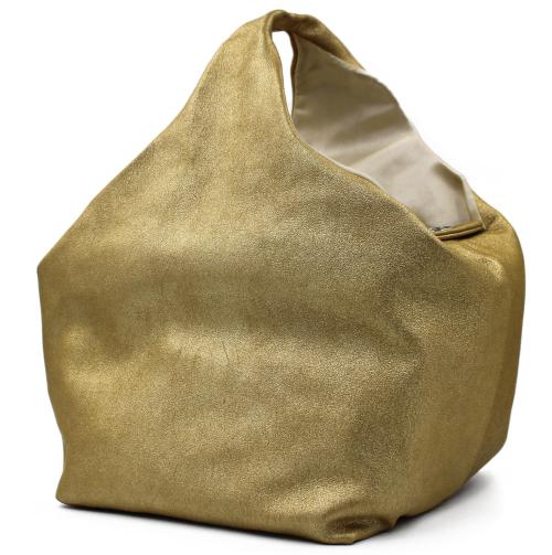 Chanel soft top handle golden bag
