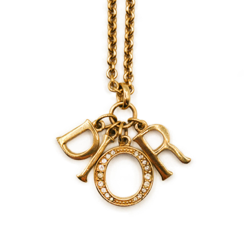 Dior golden neck with charms