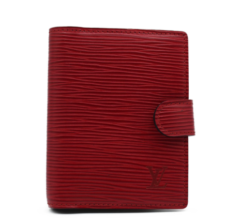 Louis Vuitton Small red epi leather agenca.