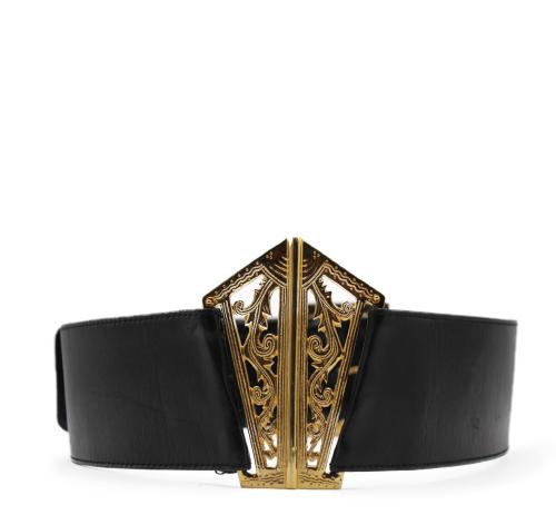 Chanel vintage leather belt