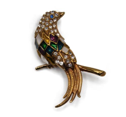 Lovely vintage Craven bird brooch