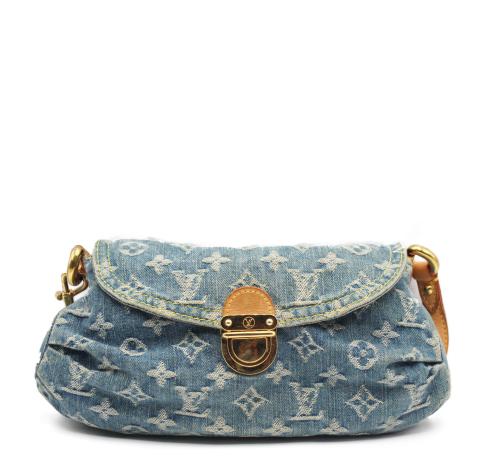 Louis Vuitton denim Pleaty bag