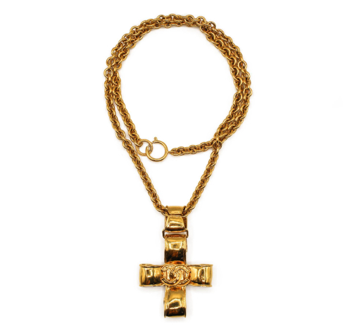 Chanel vintage 90's cross necklace
