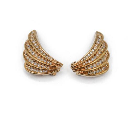 Dior Swarosvki wing earrings