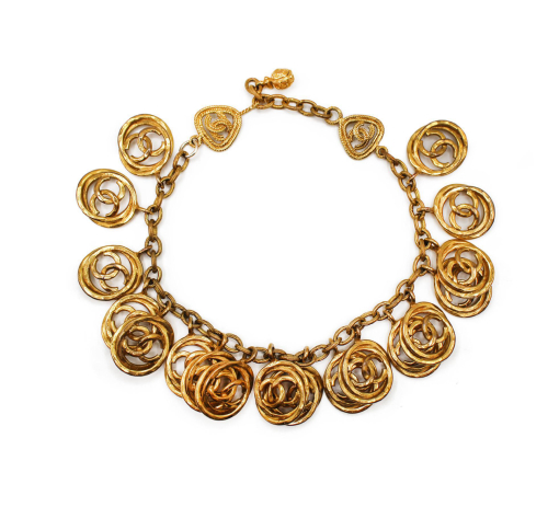 Chanel golden short necklace