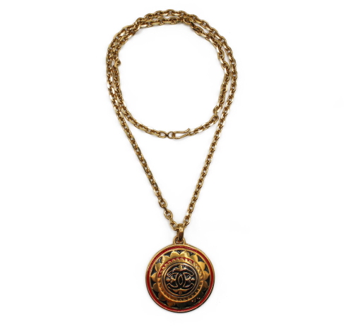 Chanel 90's emanel necklace