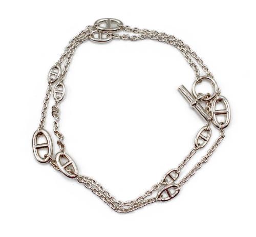 Hermes Farandole silver necklace