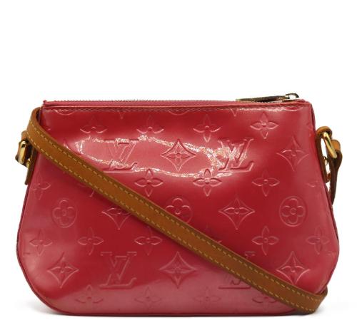Louis Vuitton red patent shoulder bag
