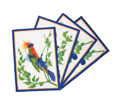 Hermes parrots 4 table set