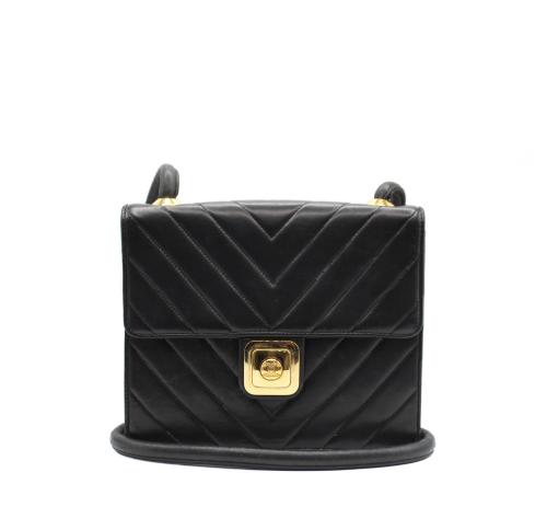 Chanel vintage chevron quilted handbag