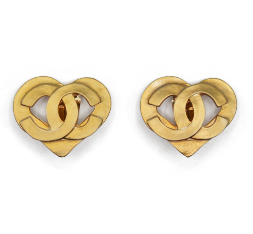 Chanel Vintage 90's Heart earrings