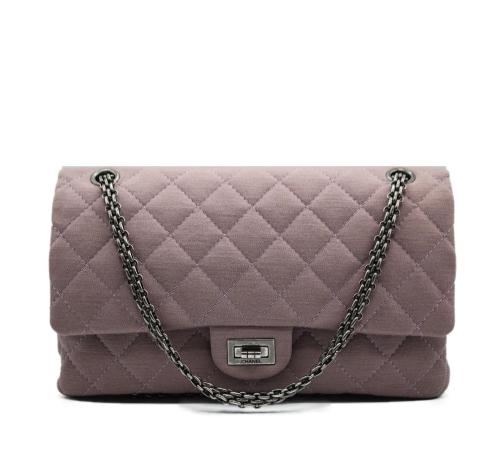 Chanel 2.55 in light purple jersey