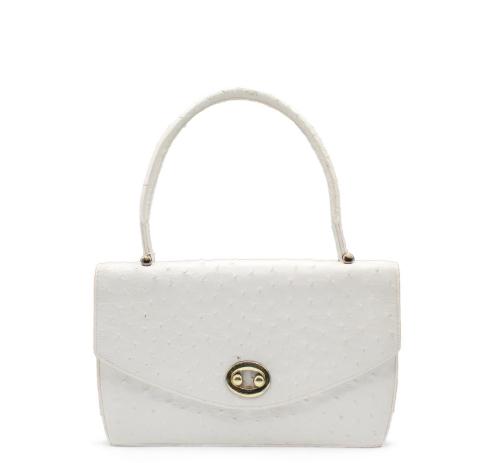 Hermes Vintage Boutonniere Ostrich bag