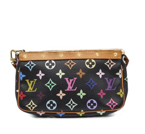 Louis Vuitton Black multicolor canvas Pochette Accessoire