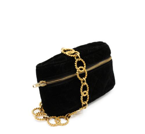 Vintage velvet beltbag black
