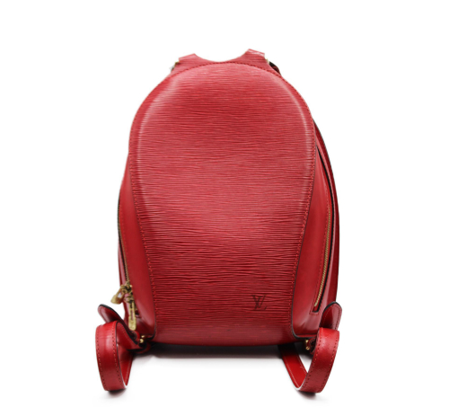 Louis Vuitton Mabillon red epi backpack
