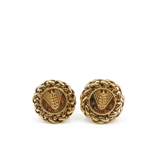 Chanel Vintage gold plated earrings