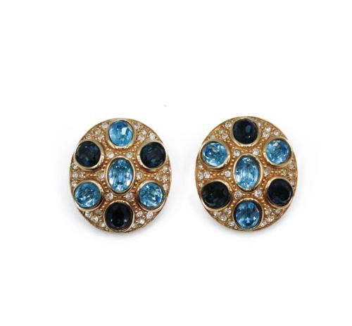 Dior blue stones earrings