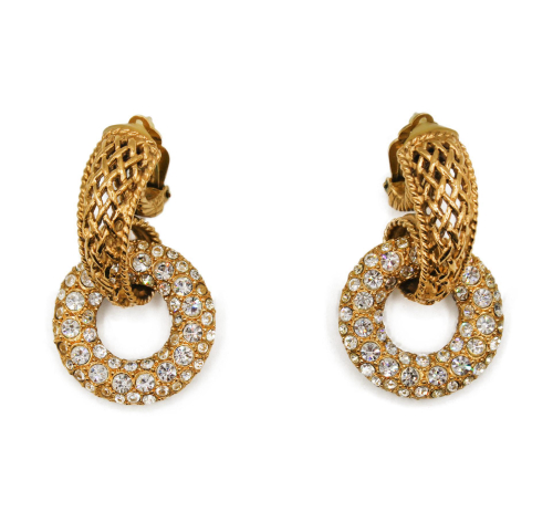 Dior XL Gold Plated earrings