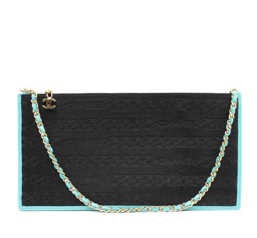 Chanel black and blue shoulder bag
