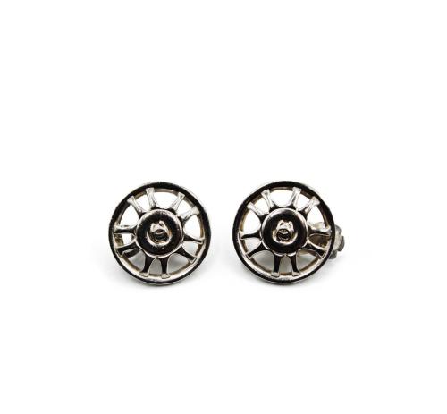 Chanel 90's steel earrings