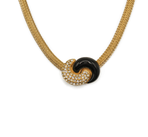Dior black and gold  vintage necklace