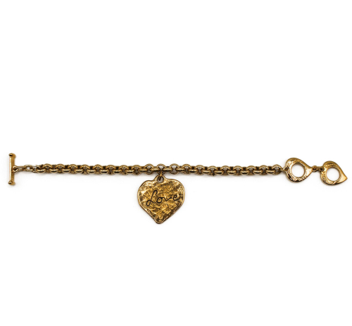 Yves Saint Laurent  golden Love heart bracelet