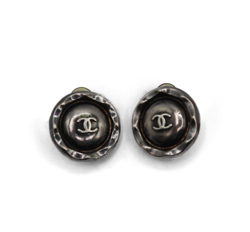 Chanel 1996 steel earrings