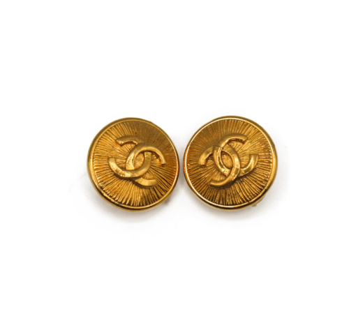 Chanel Vintage 90's logo earrings