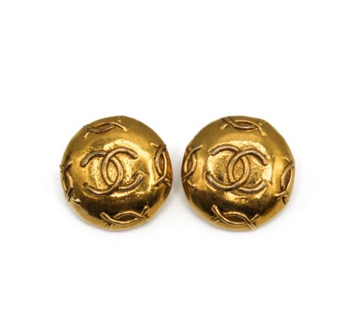 Chanel Vintage  1993 logo earrings
