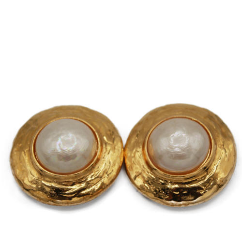 Yves Saint Laurent VIntage XL Pearl earrings