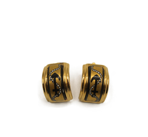 Hermes vintage emanel earrings