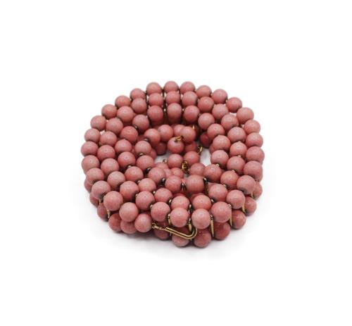 Rare Chanel pink beads belt
