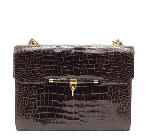 Hermes 60's Palonnier Crocodile bag