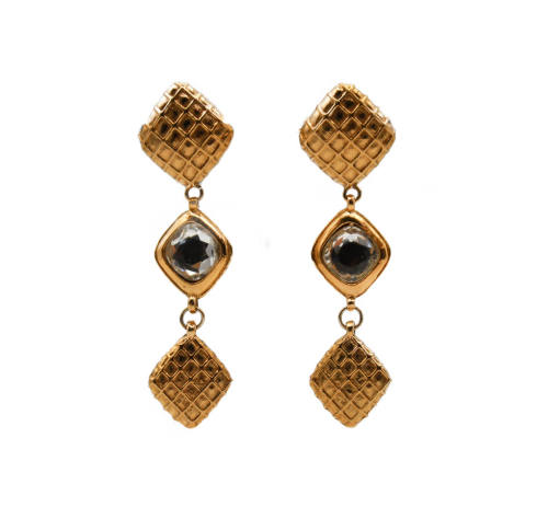 Chanel long srass earrings